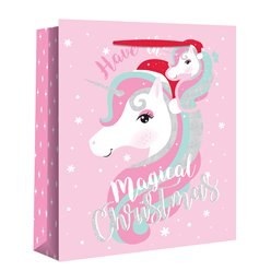 Large Magical Unicorn Christmas Gift Bag - 33cm