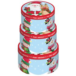 Cute Character Round Stacking Boxes - 36cm