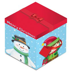 Snowman & Elf Christmas Gift Box - 28cm