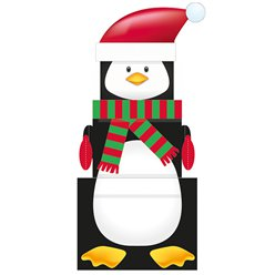 Penguin Christmas Stacking Gift Boxes - 35cm