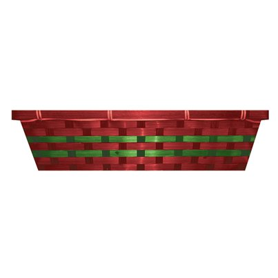 Red & Green Christmas Hamper Basket - 49cm