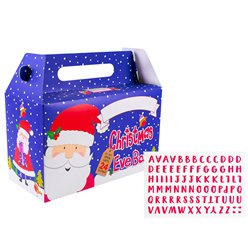 Christmas Eve Box Santa with Carry Handle