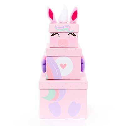 Unicorn Plush Stacking Box - 35cm
