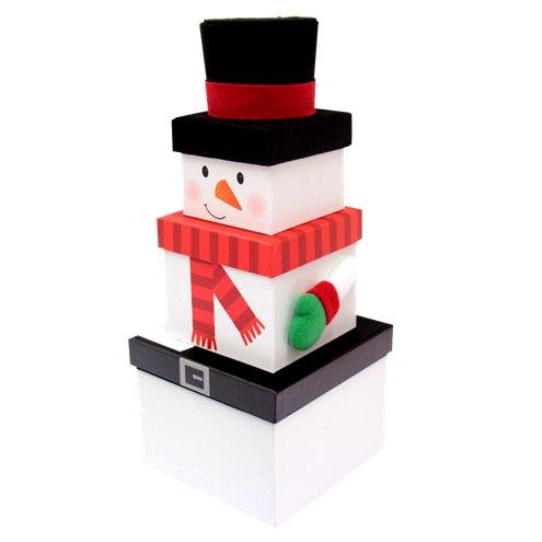 Snowman Christmas Stacking Gift Box 30cm