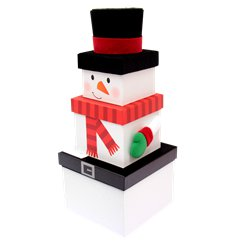 Snowman Christmas Stacking Gift Box - 30cm