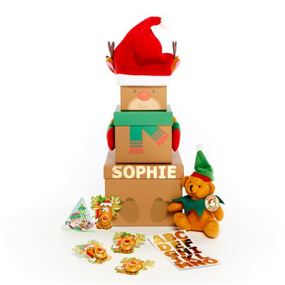 Personalised Reindeer Stacking Box Kit
