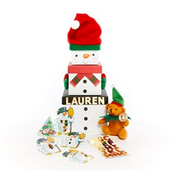 Personalised Snowman Stacking Box Kit