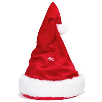 Singing & Dancing Santa Hat - Adult Christmas Hat - One Size front