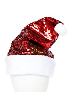 Reversible Sequin Santa Hat