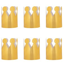 Party Crown Gold Foil x 6pk