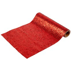 Nutcracker Red  Glitter Table Runner, 1.8m