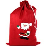 Red Fleece Christmas Santa Sack - 90cm