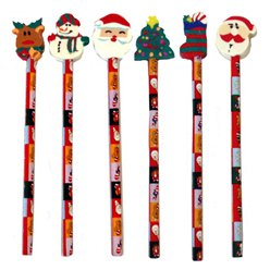 Christmas Pencil and Eraser