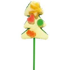 Marshmallow Christmas Tree Lollipop