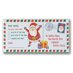 Letter to Santa Chocolate Bar