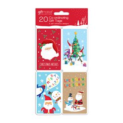 Santa and Friends Coordinating Christmas Gift Tags