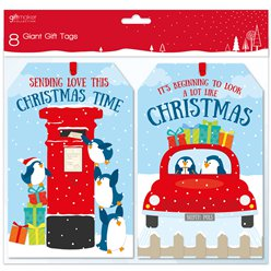 Giant Penguin Kids Novelty Christmas Gift Tags