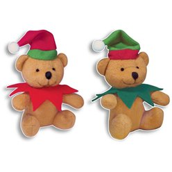 Plush Christmas Elf Bear 12cm