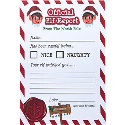 Naughty Elf Report Card