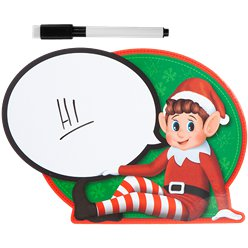Naughty Elf Speech Bubble Sign
