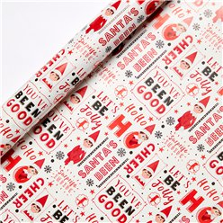 Elf on the Shelf Christmas Gift Wrapping Paper - 3m