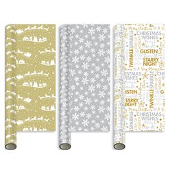 Mixed Metallic Gift Wrap - 5m