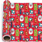 Festive Pals Extra Wide Christmas Gift Wrapping Paper - 3m