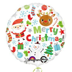Merry Christmas Balloon - 18'' Foil
