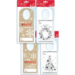 Foiled Christmas Bottle Gift Tags