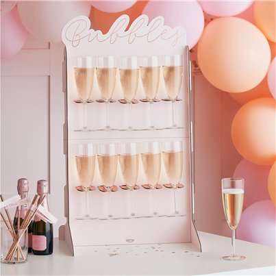 Rose Gold Prosecco Wall Drinks Holder