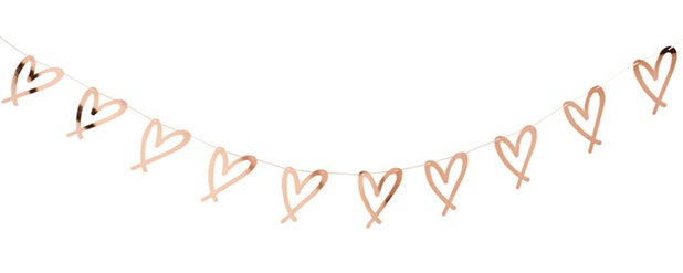 She Said Yaaas Rose Gold Heart Garland - 2m