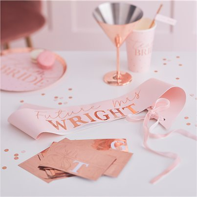 Hen Party Rose Gold Customisable Sash