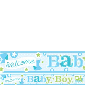 Welcome Baby Boy Paper Banners 1 design 1m each
