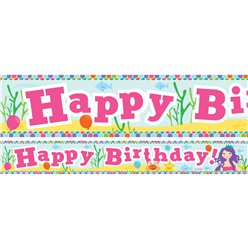 Mermaid Birthday Paper Banners 1 design 1m each