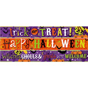 Halloween Children Friendly Paper Banners 3 designs - 1m