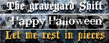 Halloween Paper Banners 3 designs 1m each