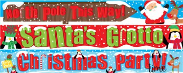 North Pole Paper Banners 3 designs 1m each