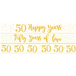 50th Wedding Anniversary Paper Banners 3 designs 1m each