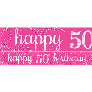 50th Birthday Paper Banners 1 design 1m each