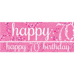 70th Birthday Paper Banners 1 design 1m each