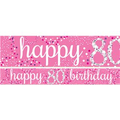 80th Birthday Paper Banners 1 design 1m each
