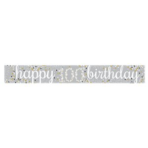 100th Birthday Paper Banners 1 design 1m each