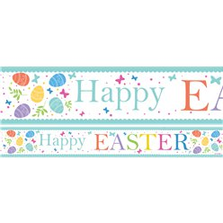 Easter Paper Banners 3pk 1 design 1m each