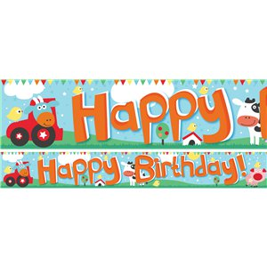 Farm Fun Paper Banners 1 design 1m each