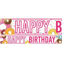 Doughnuts Birthday Paper Banners 1 design 1m each