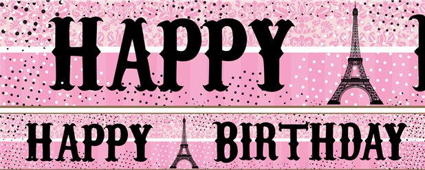 A Day in Paris Paper Banners 1 design 1m each