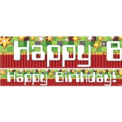 TNT Birthday Paper Banners 1 design 1m each
