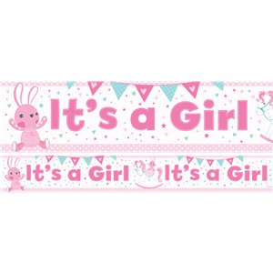 Its a Girl Paper Banners 1 design 1m each