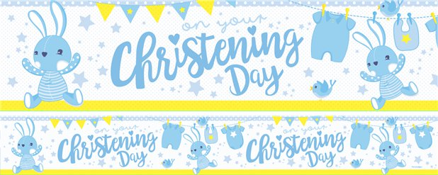 Christening Day Paper Banners 1 design 1m each