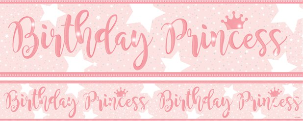 Birthday Princess Banners 1 design 1m each